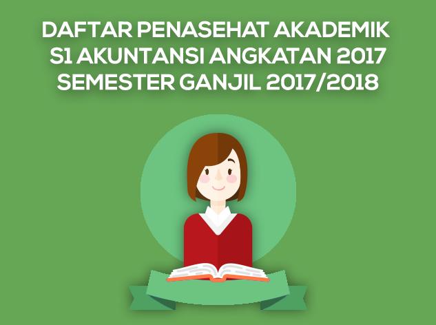 Daftar Penasehat Akademik S1 Angkatan 2017 Semester Ganjil 2017-2018