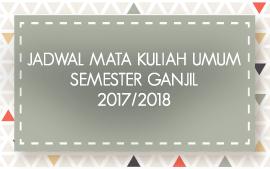 Info Akademik - Jadwal Kuliah Mata Kuliah Umum Semester Ganjil 2017-2018